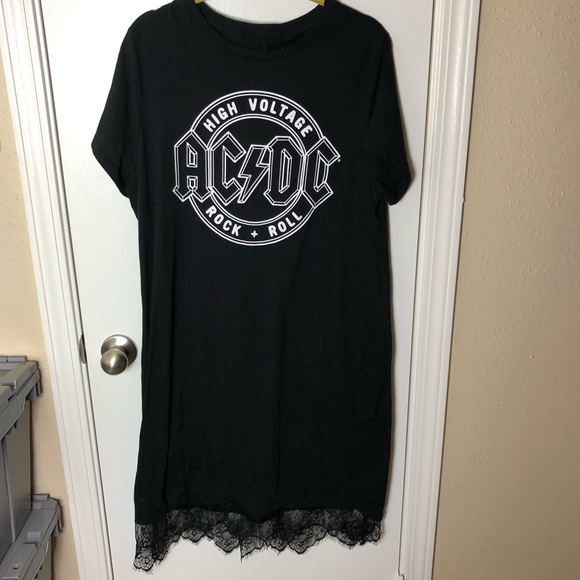 Urban Outfitters Dresses & Skirts - AC/DC Lace T Shirt Dress